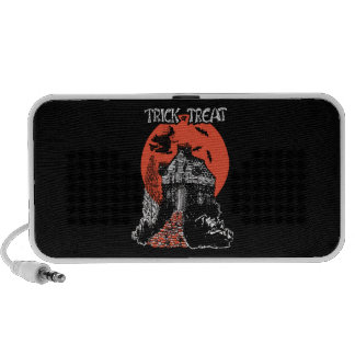 Vintage Trick or Treat Witch and Haunted House Travel Speaker