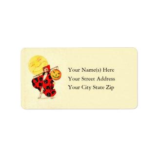 Vintage Trick or Treater Halloween Address Label