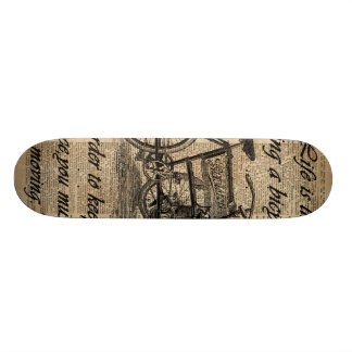 Vintage Tricycle Dictionary Art Bicycle Quote Skateboard Deck