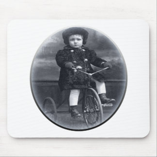 Vintage Tricycle Girl Mouse Pad