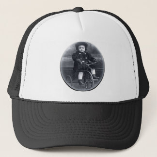 Vintage Tricycle Girl Trucker Hat