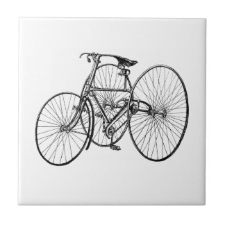 Vintage Tricycle - Three wheel bicycle Tile