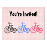 "Vintage Tricycles 4.25"" X 5.5"" Invitation Card"