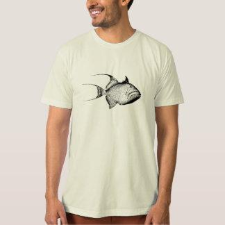 Vintage Trigger Fish Antique Hawaiian Print T Shirt