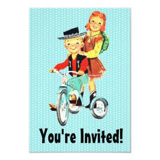 Vintage Trike Invitación 8,9 X 12,7 Cm