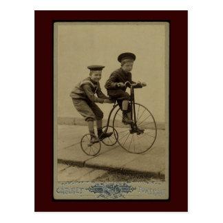 vintage trike postcard