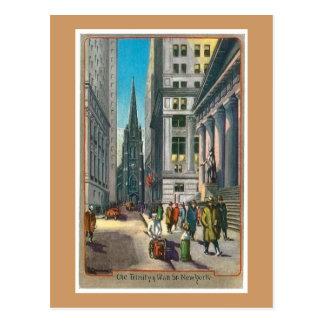 Vintage Trininty viejo y Wall Street Postales