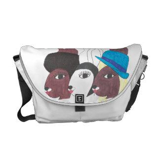 Vintage Trio CBunnies w Chic Messenger Bag