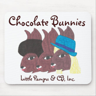 Vintage Trio Chocolate Bunnies Mouse Pad