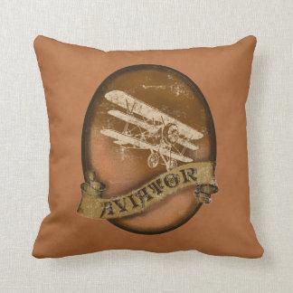 Vintage Triplane Throw Pillow