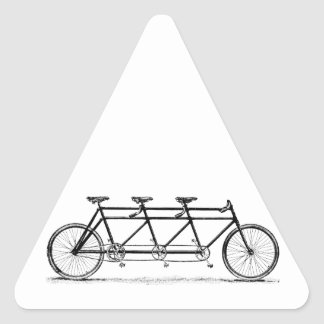 Vintage Triple Bicycle Triangle Sticker