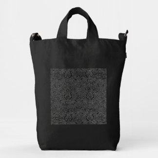 Vintage Triskle Celtic Trinity Knot Charcoal Black Duck Bag