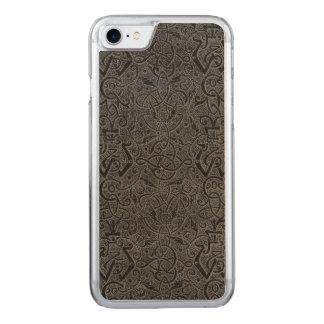 Vintage Triskle Celtic Trinity Knot Charcoal Steel Carved iPhone 7 Case