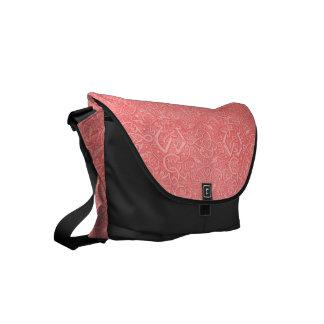 Vintage Triskle Celtic Trinity Knot Coral Peach Small Messenger Bag