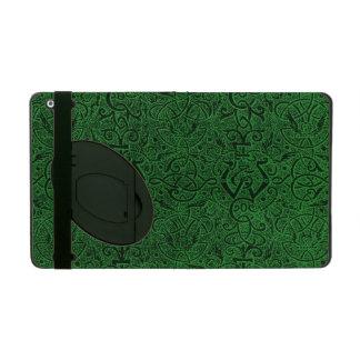 Vintage Triskle Celtic Trinity Knot Emerald Green iPad Cases