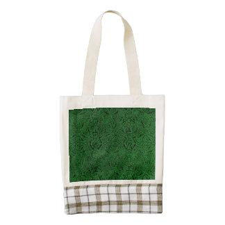 Vintage Triskle Celtic Trinity Knot Emerald Green Zazzle HEART Tote Bag