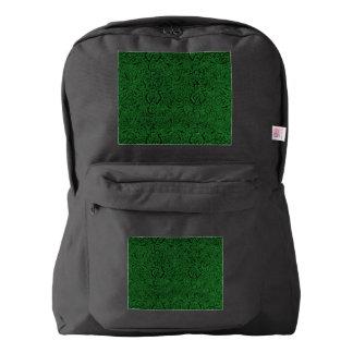 Vintage Triskle Celtic Trinity Knot Ivy Green Backpack