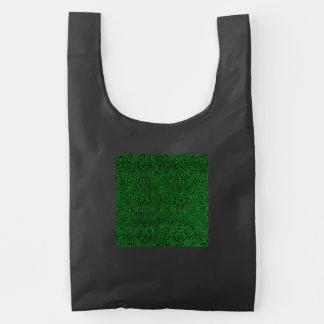 Vintage Triskle Celtic Trinity Knot Ivy Green Reusable Bag