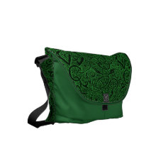 Vintage Triskle Celtic Trinity Knot Ivy Green Small Messenger Bag at Zazzle