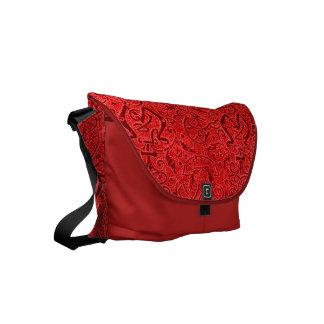 Vintage Triskle Celtic Trinity Knot Red Small Messenger Bag