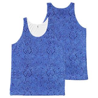 Vintage Triskle Celtic Trinity Knot Sapphire Blue All-Over-Print Tank Top