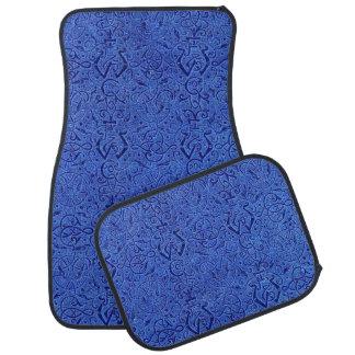 Vintage Triskle Celtic Trinity Knot Sapphire Blue Car Floor Mat