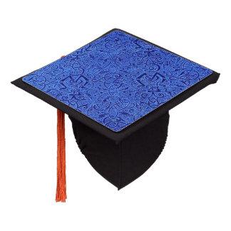 Vintage Triskle Celtic Trinity Knot Sapphire Blue Graduation Cap Topper