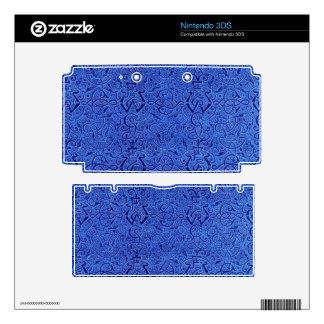 Vintage Triskle Celtic Trinity Knot Sapphire Blue Skin For The Nintendo 3DS