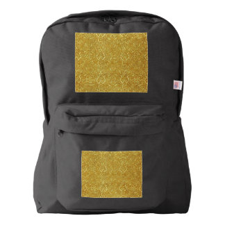 Vintage Triskle Celtic Trinity Knot Yellow Gold American Apparel™ Backpack