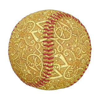 Vintage Triskle Celtic Trinity Knot Yellow Gold Baseball