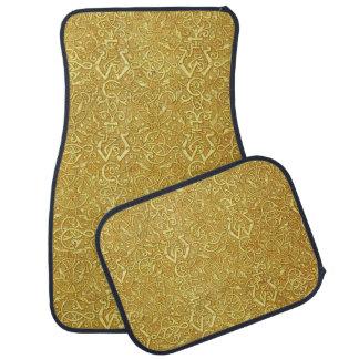 Vintage Triskle Celtic Trinity Knot Yellow Gold Car Floor Mat