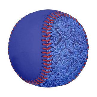 Vintage Triskle Trinity Knot Blue Baseball