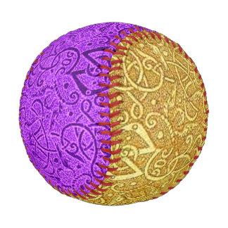 Vintage Triskle Yellow Gold and Violet Purple Baseball