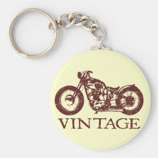 Vintage Triumph Basic Round Button Keychain