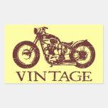 Vintage Triumph Pegatina Rectangular