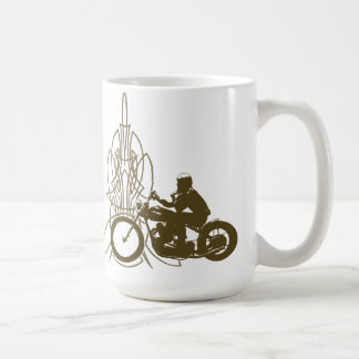 Vintage Triumph Riding Coffee Mug
