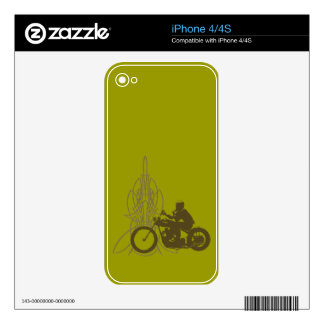 Vintage Triumph Riding Decal For The iPhone 4