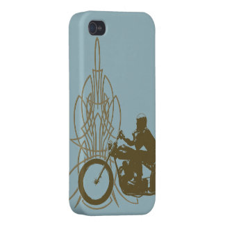 Vintage Triumph Riding iPhone 4/4S Covers