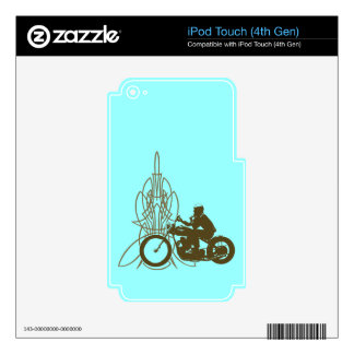 Vintage Triumph Riding iPod Touch 4G Skin