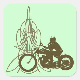 Vintage Triumph Riding Square Sticker