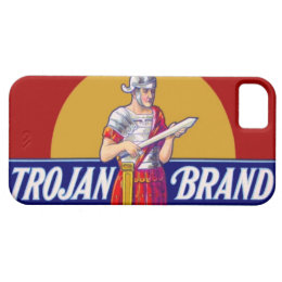 Vintage Trojan Brand Bachelor Party Gag Gift iPhone SE/5/5s Case