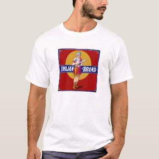 Vintage Trojan Brand Fruit Crate Label Bachelor T-Shirt