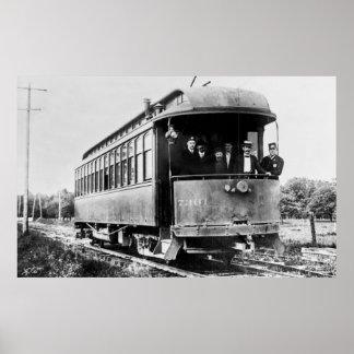 Vintage Trolley Car Poster