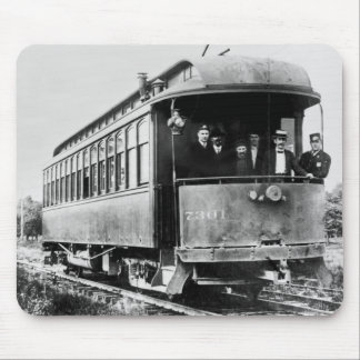 Vintage Trolley Mouse Pad