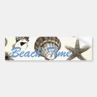 vintage tropical beach seashell wedding bumper sticker