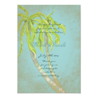 Vintage Tropical Breeze II  Wedding Program Custom Invites