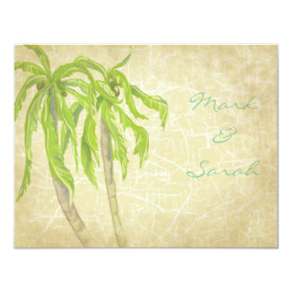 Vintage Tropical Breeze RSVP Invitation