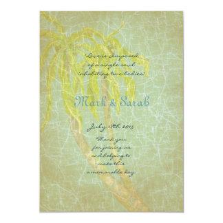 Vintage Tropical Breeze Wedding Program Custom Invitations