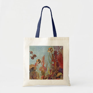 Vintage Tropical Fish and Coral in the Ocean Tote Bag