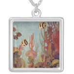 Vintage Tropical Fish and Coral in the Ocean Custom Jewelry